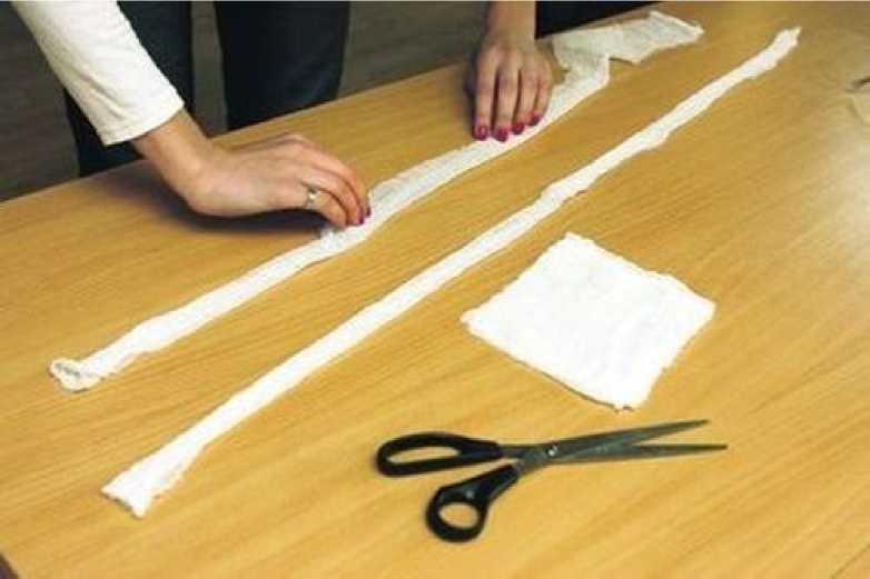Способ изготовления марлевой повязки 1